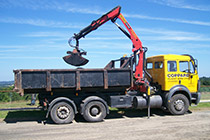 26.0 Tonne Mercedes Multi lift with Hiab Crane