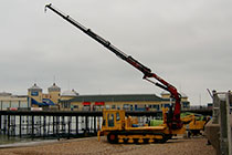 DT46 Morooka MST 2200 with Amco Crane