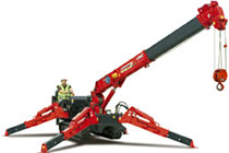 Unic Spider Crane http://www.coppard.co.uk/crane_hire.html