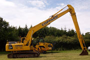 Komatsu PC 120 Long Reach excavator for hire