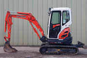 kubota U25-3 excavator for hire