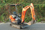 Kubota KX41-3 excavator for hire