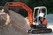 Kubota U20-3 mini excavator with zero tail swing