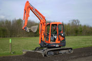 Kubota U45-3 SS excavator for hire