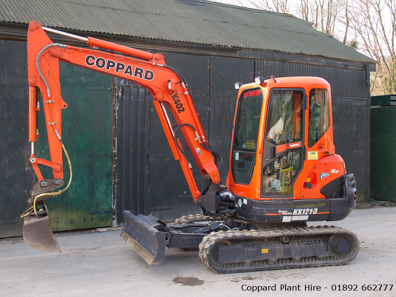 Kubota KX121-3 excavator for hire