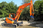 Kubota KXO80-3 excavator for hire