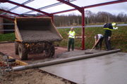 Click here to view a sideshow of laying a concrete slab