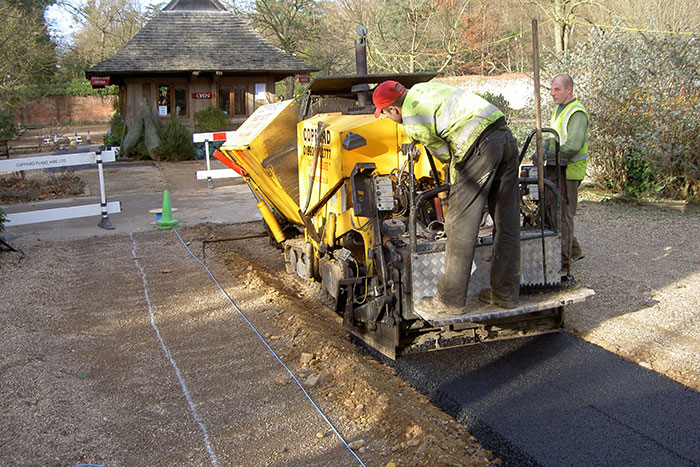 laying a new footpath